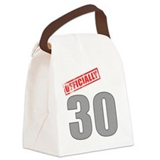 officially_30 Canvas Lunch Bag
