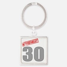 officially_30 Square Keychain