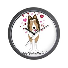 sable_happy_valentines_day Wall Clock
