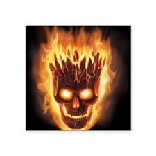 "skull bonies head explodes  Square Sticker 3"" x 3"""
