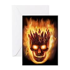 skull bonies head explodes wide Greeting Card