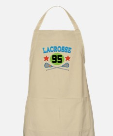 Lacrosse Player Number 95 Apron