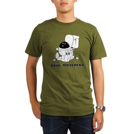 bowl movement Organic Men's T-Shirt (dark)