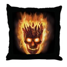 skull bonies head explodes for badges Throw Pillow