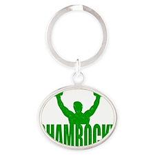 sham_rocky_1 Oval Keychain