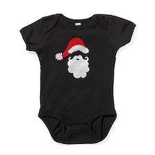 Santa Hat & Beard Baby Bodysuit