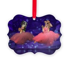 ballet two jump16x12 Ornament