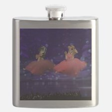 ballet two jump16x16 Flask