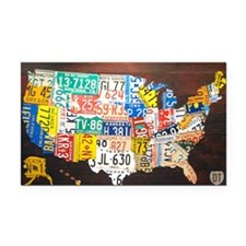 United States License Plate M Rectangle Car Magnet