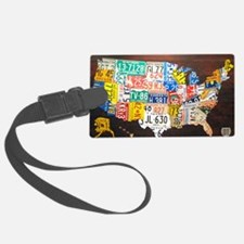 United States License Plate Map Luggage Tag