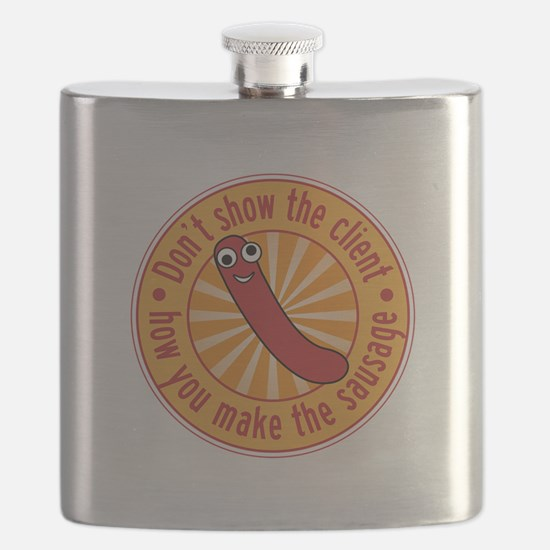 Don't let the client see the sausage Flask