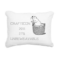 CRAFTICON2011crop Rectangular Canvas Pillow