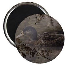 Wild duck on lake design Magnet