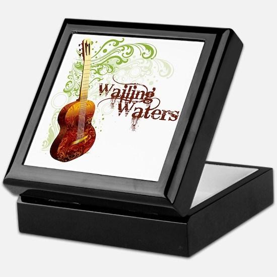 wailingwatersguitar-white Keepsake Box
