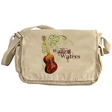 wailingwatersguitar-white Messenger Bag