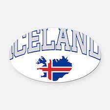 iceland.shirt.frontEN Oval Car Magnet