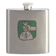 Money Talks White Flask