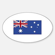Australia Flag Oval Decal