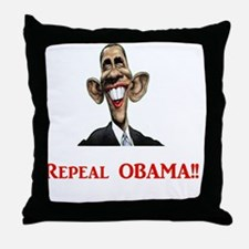 RepealObamaRed-xp Throw Pillow