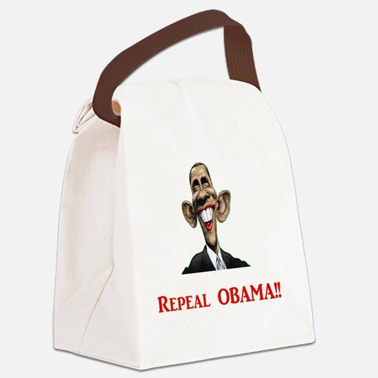 RepealObamaRed-xp Canvas Lunch Bag