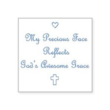 "My Precious Face Blue copy Square Sticker 3"" x 3"""