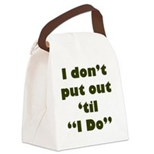 PutOut Green Canvas Lunch Bag