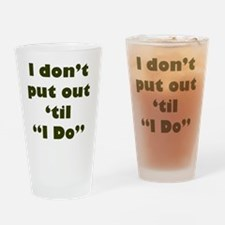 PutOut Green Drinking Glass