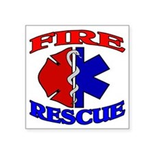 "FIRERESCUE Square Sticker 3"" x 3"""