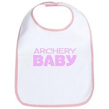 Archery Baby Girl Bib