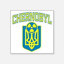 "chernobylEN Square Sticker 3"" x 3"""