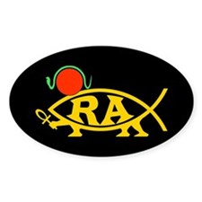 Ra Fish Oval Decal