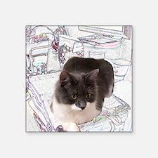 "Kitty In Fairy Land Still L Square Sticker 3"" x 3"""