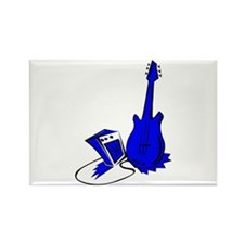 guitar amp stylized blue Magnets