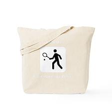 TennisWatchMe White Tote Bag