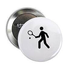"""TennisWatchMe White 2.25"""" Button"""