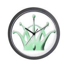 Crown for Hat Green copy Wall Clock