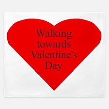 Valentine Heart front King Duvet