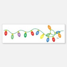 Xmas Lights Sticker (Bumper)