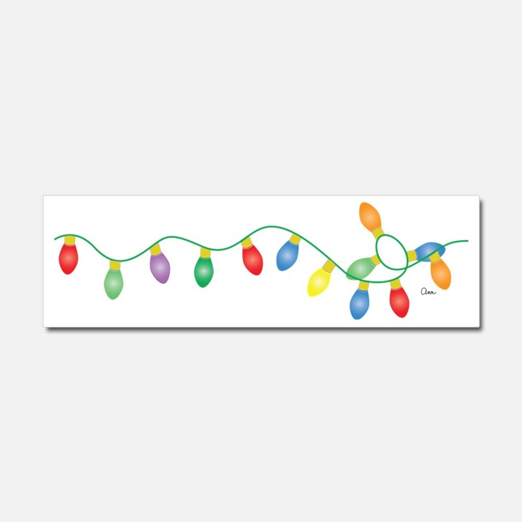 Xmas Lights Car Magnet 10 x 3