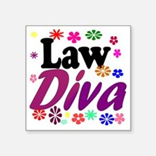 "lawdiva black1 Square Sticker 3"" x 3"""