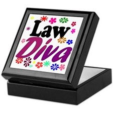 lawdiva black1 Keepsake Box
