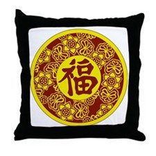 GoodFortuneSymbolcolor Throw Pillow