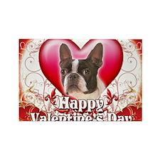Happy Valentines Day Boston Terri Rectangle Magnet