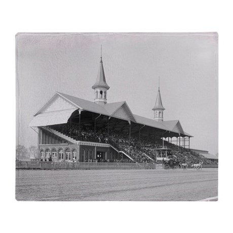 Churchill Downs, 1901 Throw Blanket