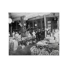 Wild Game Market, 1895 Throw Blanket