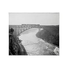 Train Crossing Niagara River, 1910 Throw Blanket