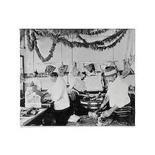 Butcher Shop, 1895 Throw Blanket