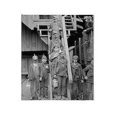 Coal Breaker Boys, 1900 Throw Blanket