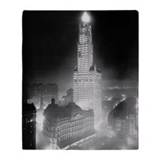 Woolworth Building At Night Throw Blanket