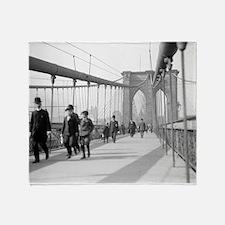 Brooklyn Bridge Pedestrians Throw Blanket